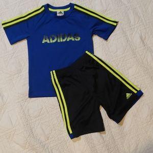 Adidas shirt and short set